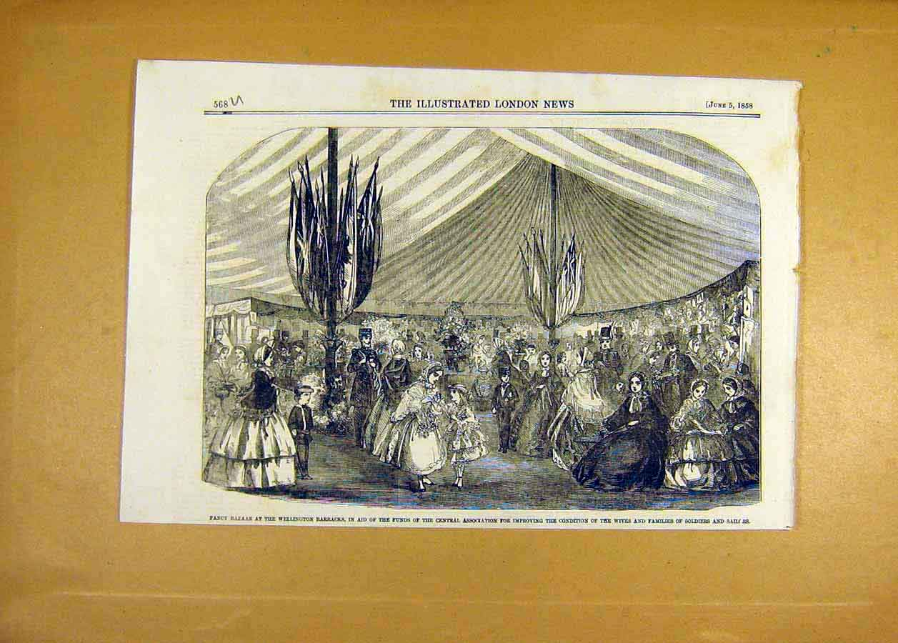 Print Bazaar Wellington Barracks Family Soldier Sailor 1858 68Uccc0 Old Original