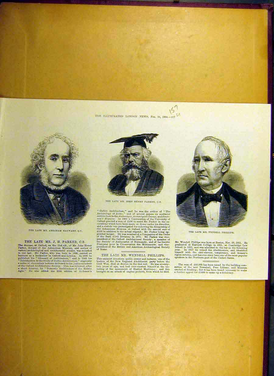Print 1884 Hayward Parker Phillips Portrait People 57Uccc0 Old Original