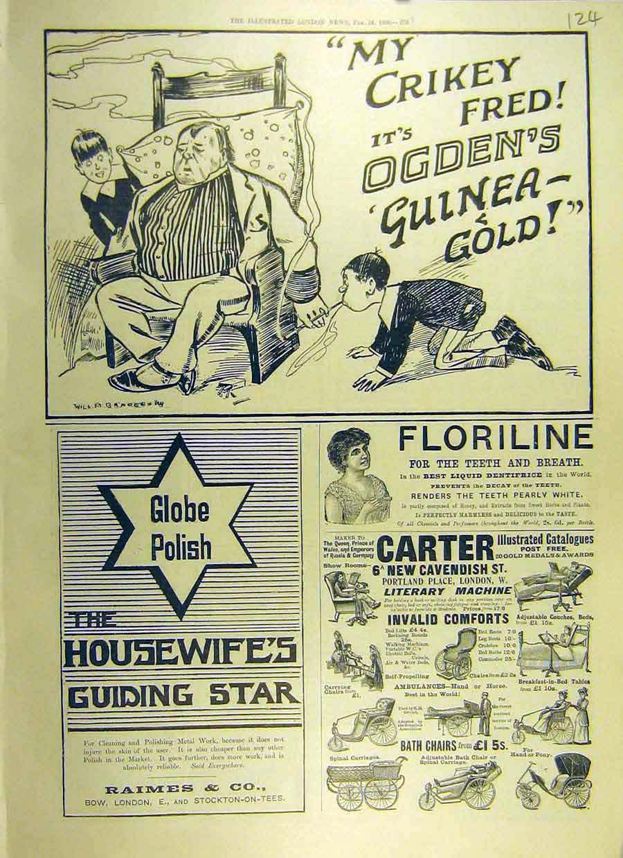 Print 1900 Ogden'S Cigarettes Advert Carter Globe Polish 24Ccc0 Old Original