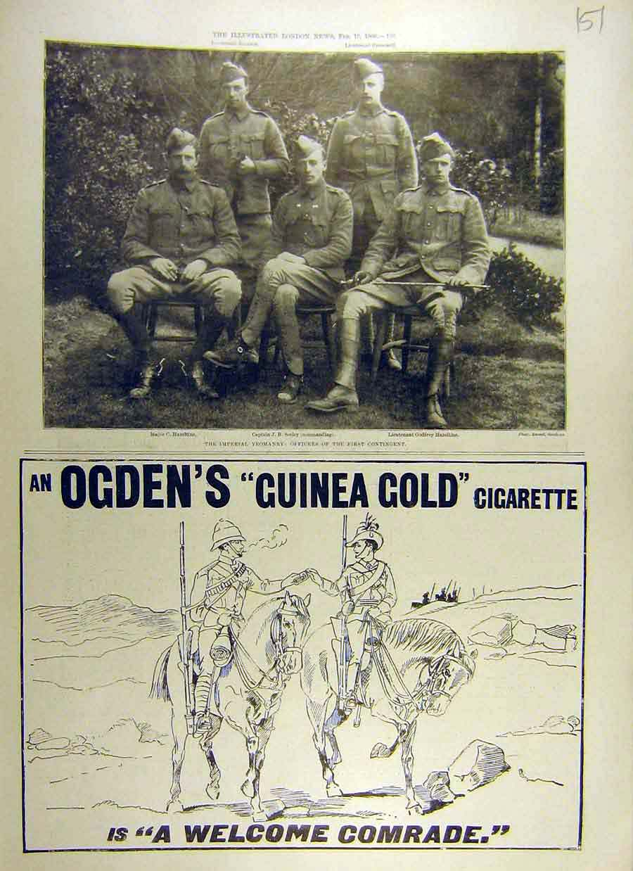 Print 1900 Imperial Yeomanry Offices Ogden'S Cigarettes 51Ccc0 Old Original