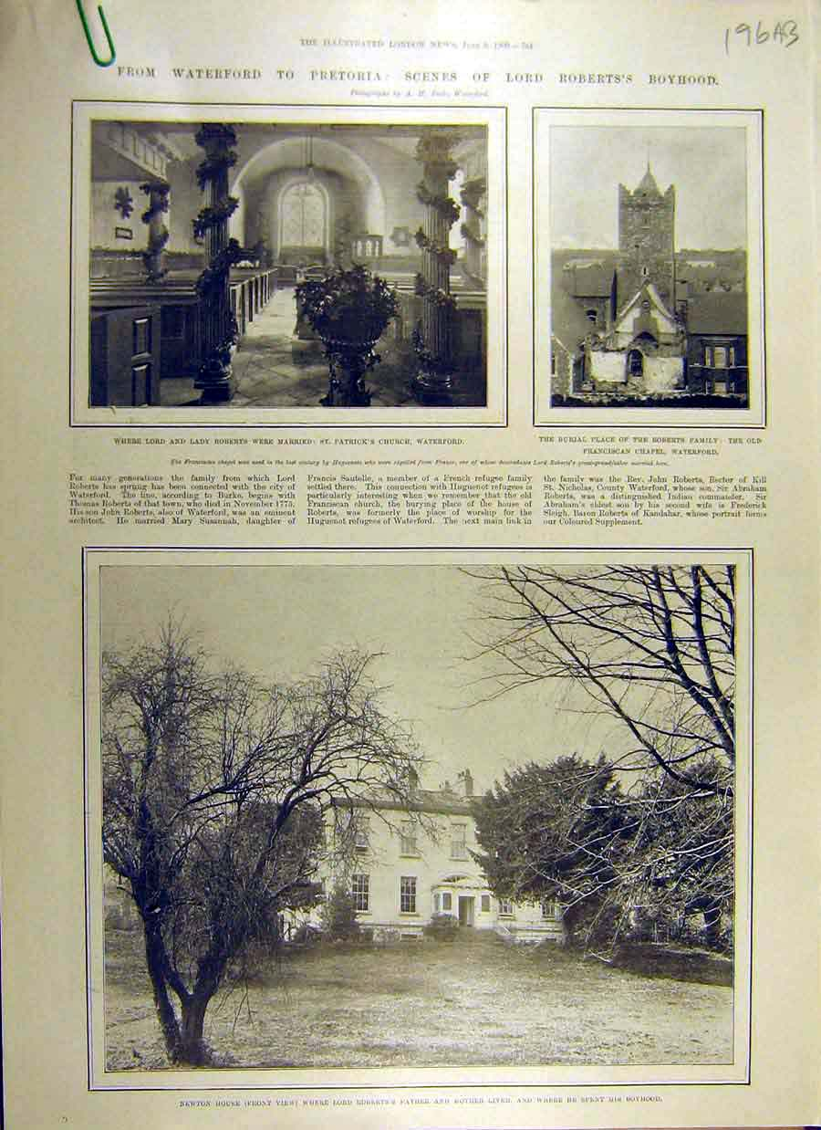 Print 1900 Roberts Newton House Waterford Pretoria Africa 96Accc0 Old Original