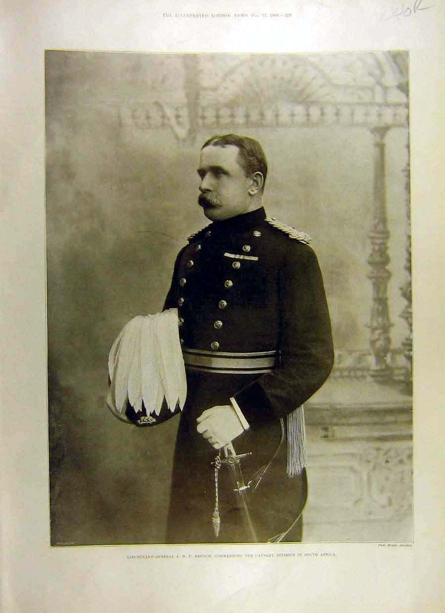 Print 1900 Portrait General-French Boer War New-Zealanders 46Rccc0 Old Original