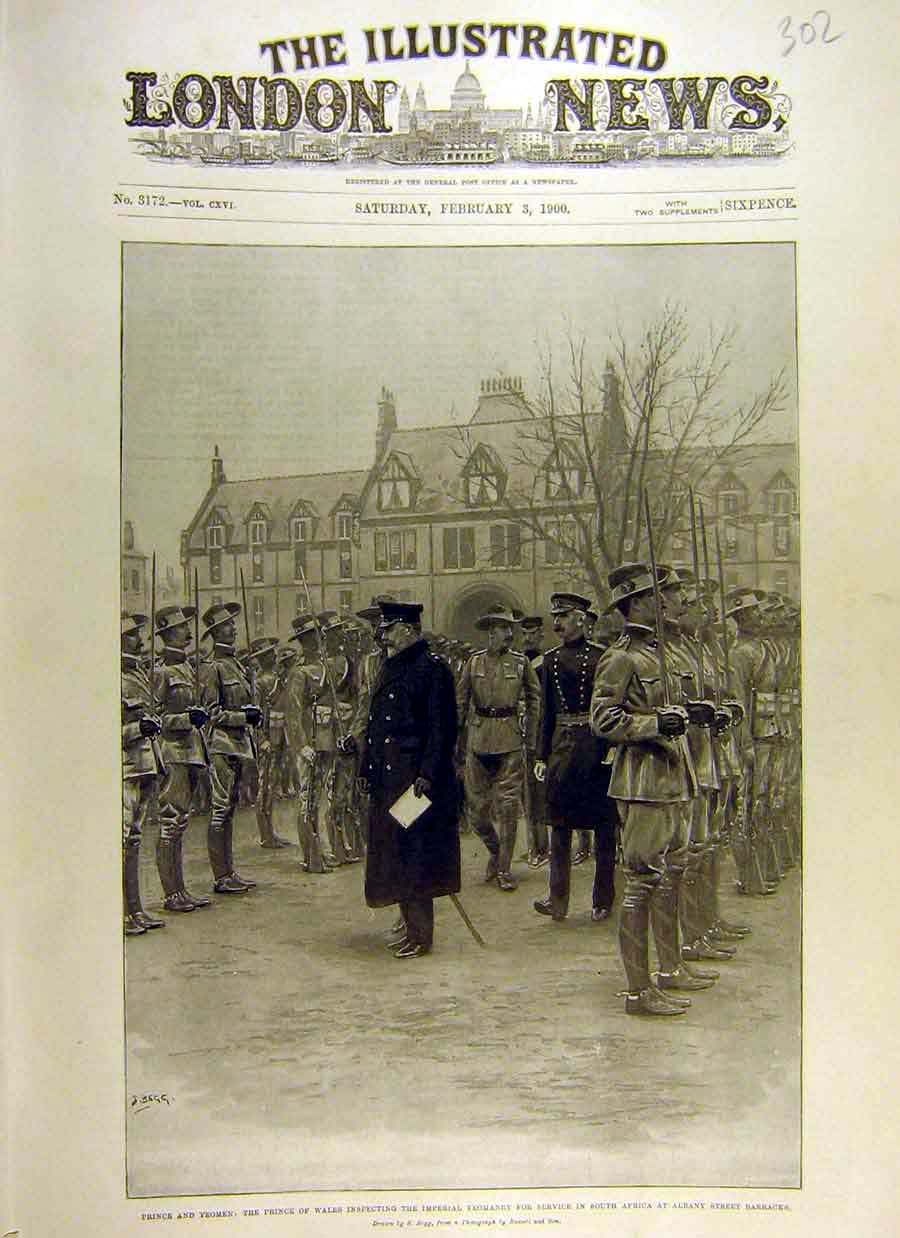 Print 1900 Imperial Yeomanry Prince Yeomen Inspection Africa 02Ccc0 Old Original