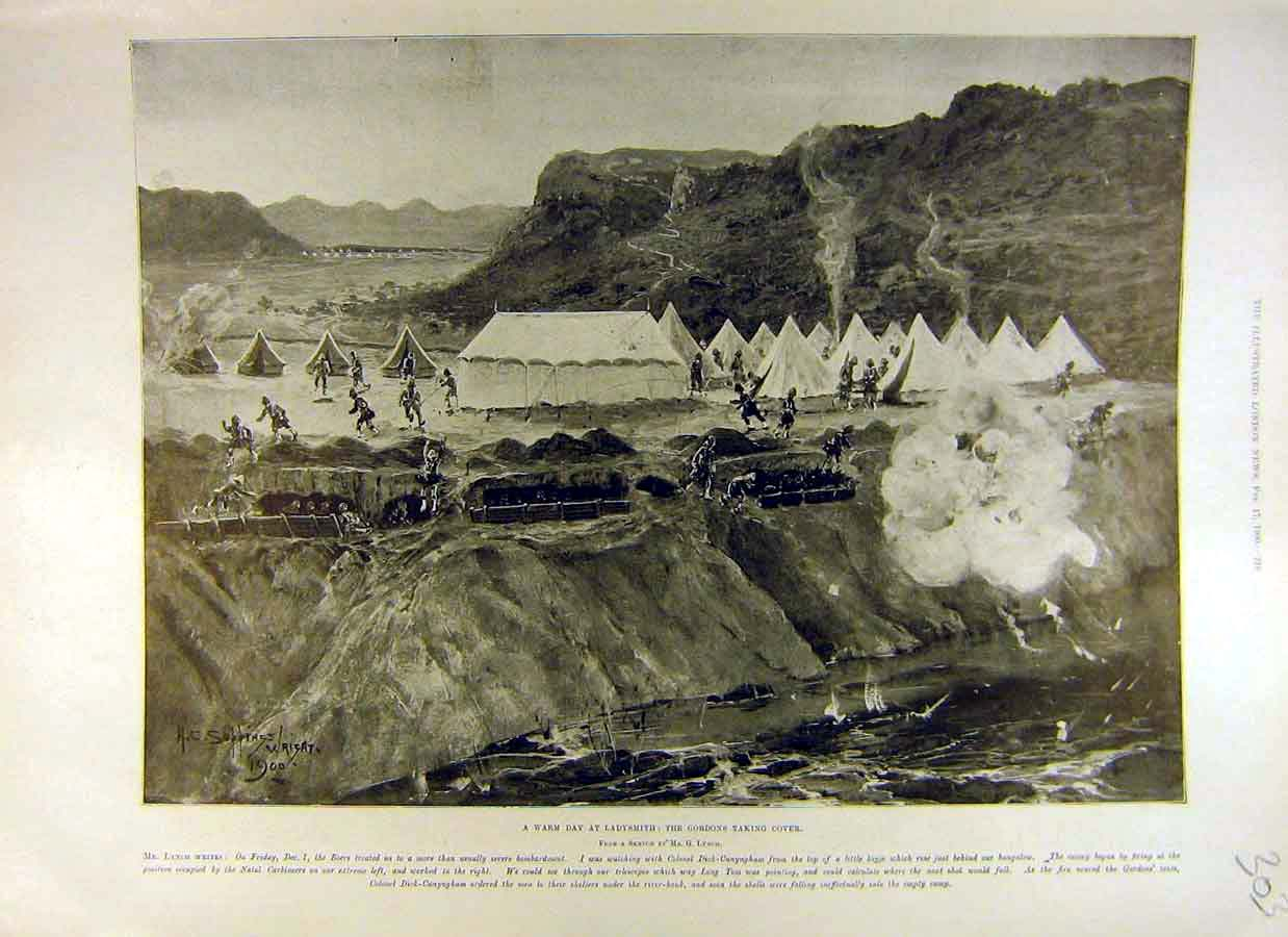 Print 1900 Ladysmith Gordons Boer War Africa 03Ccc0 Old Original