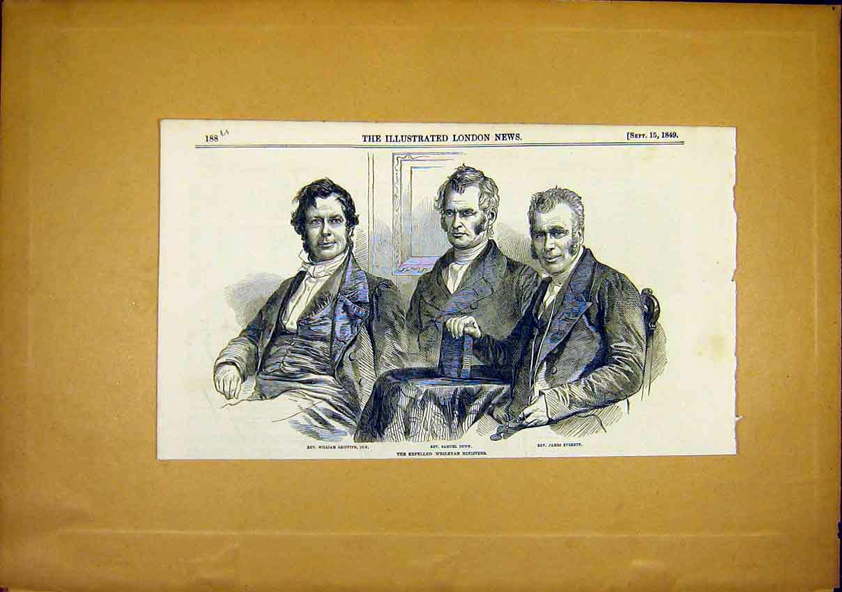 Print Portrait Rev. Everett Dunn Griffith Jnr 1849 88Uccc1 Old Original