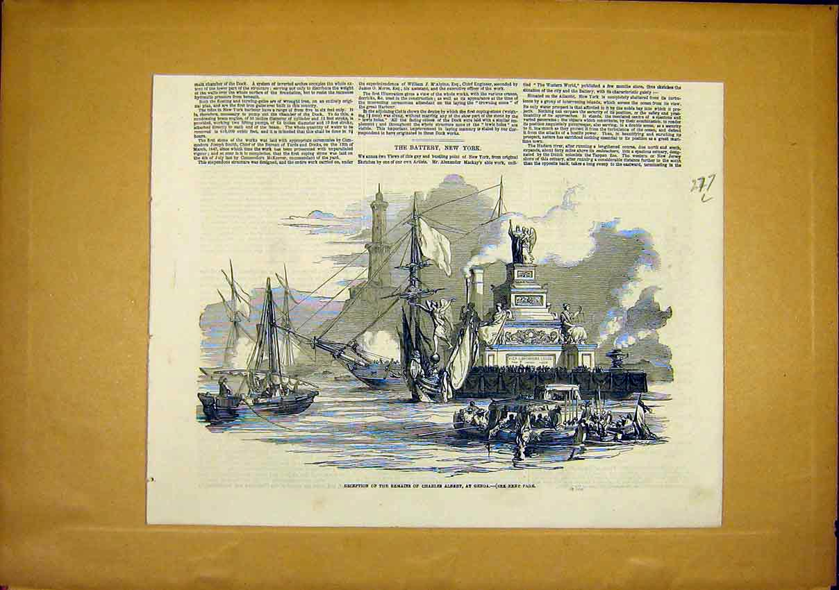 Print Remains Charles Albert Genoa Reception 1849 77Lccc1 Old Original