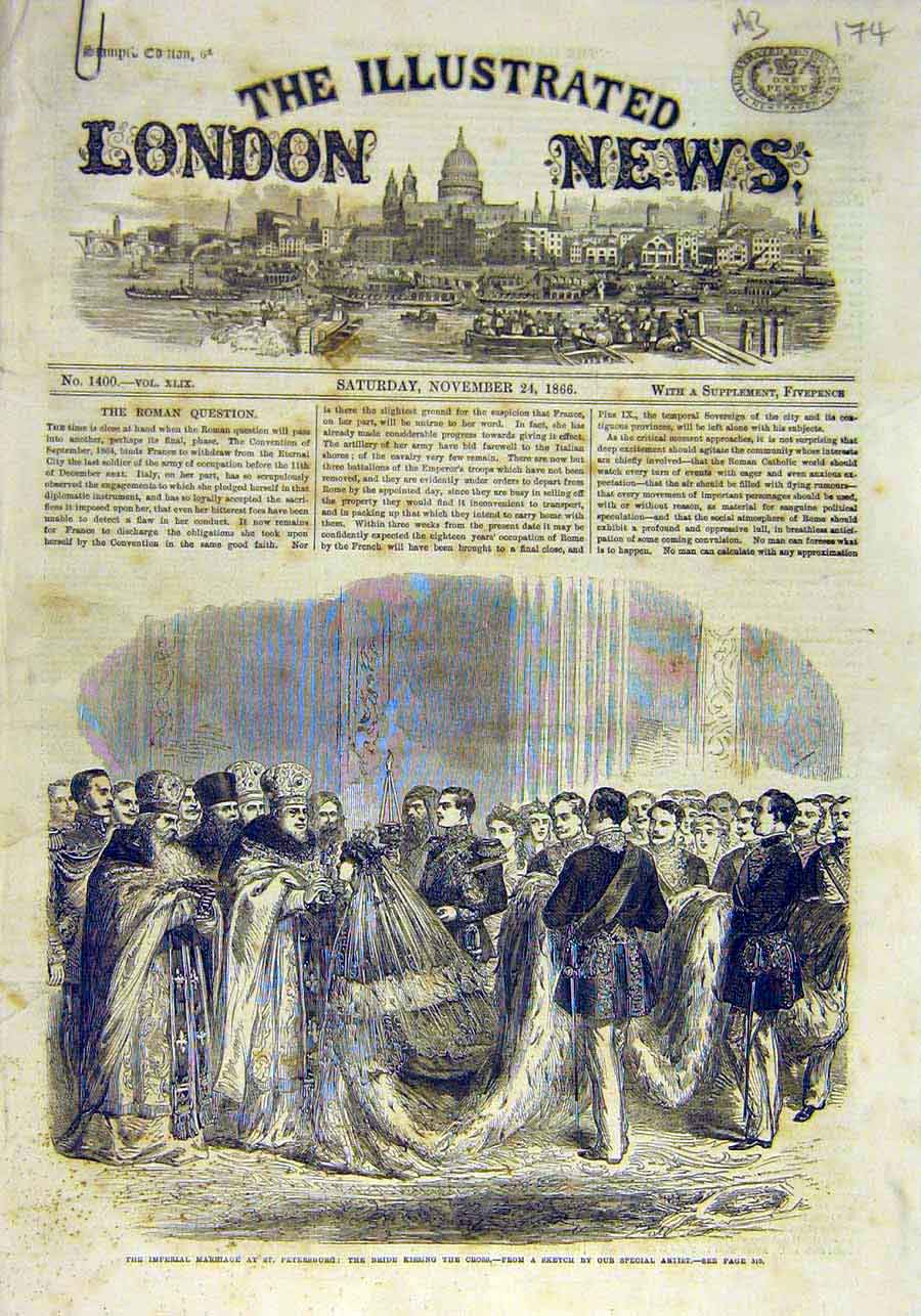 Print Imperial Marriage Schamyl Whyack Village Vancouver 1866 74Accc1 Old Original
