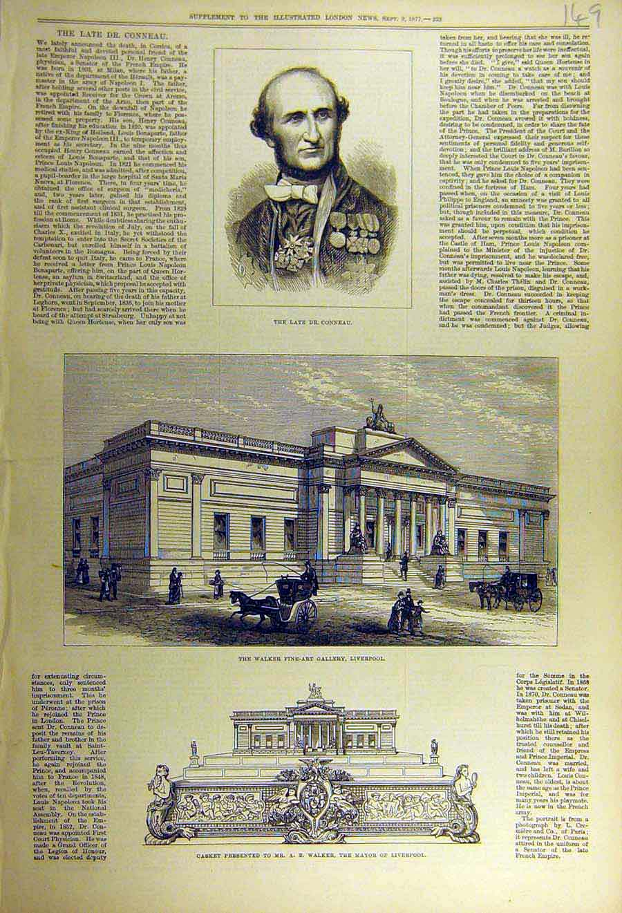 Print 1877 Conneau Walker Gallery Liverpool Casket Mayor 49Ccc1 Old Original