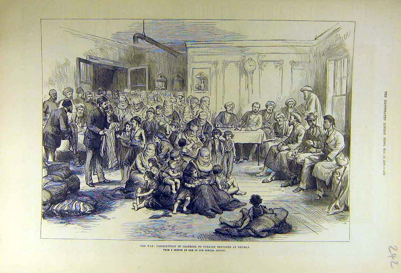 Print 1877 War Clothing Turkish Refugees Shumla 42Ccc1 Old Original
