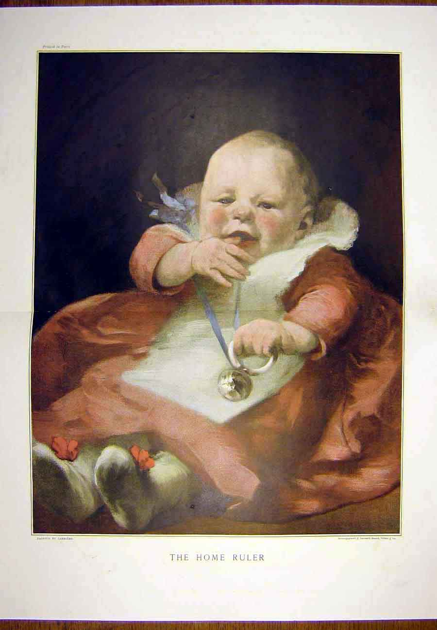 Print Portrait Baby Carriere Child Home Ruler 1890 17Tccc1 Old Original