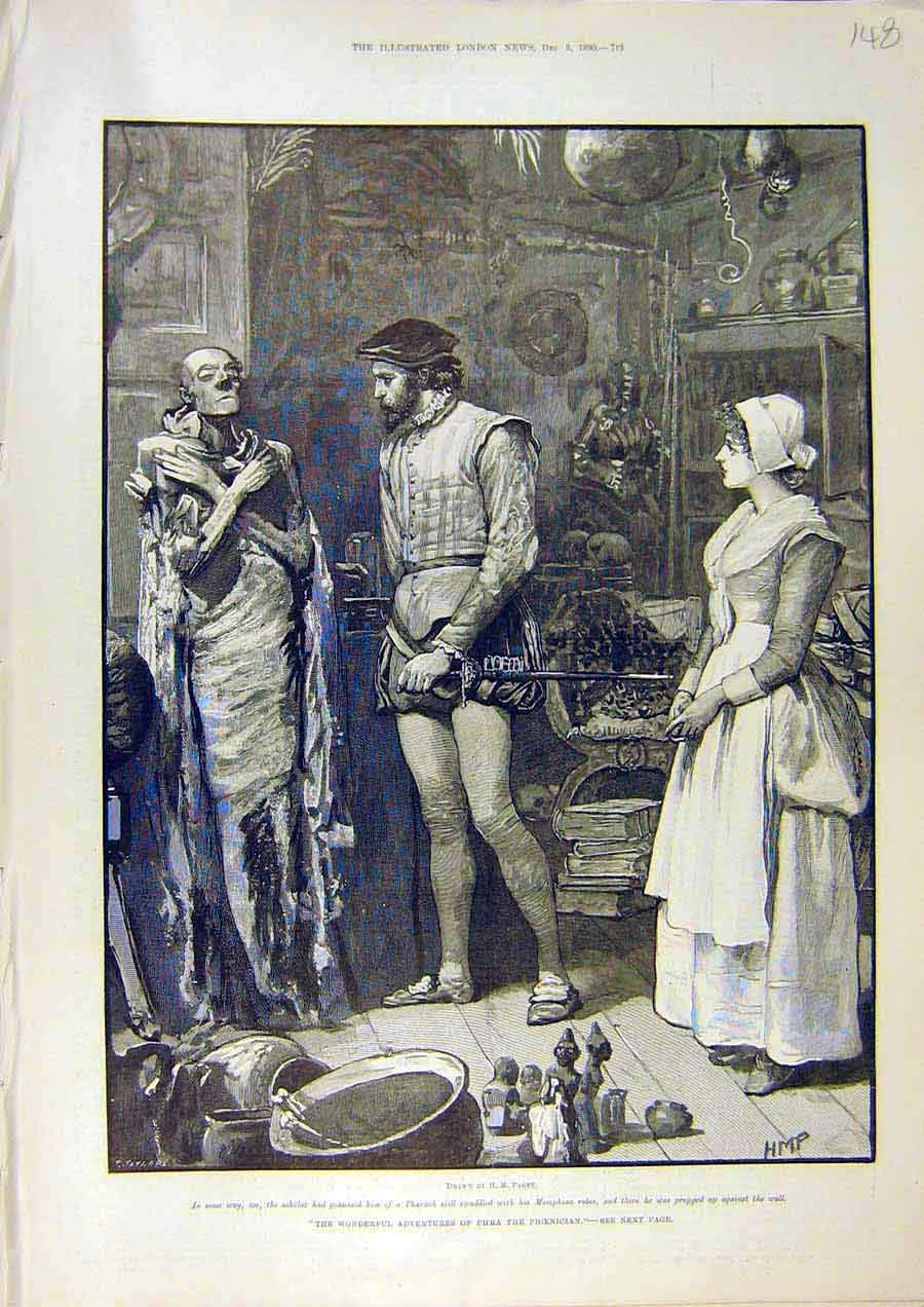Print Paget Taylor Phra Phoenician Fine Art 1890 Lady 48Ccc1 Old Original
