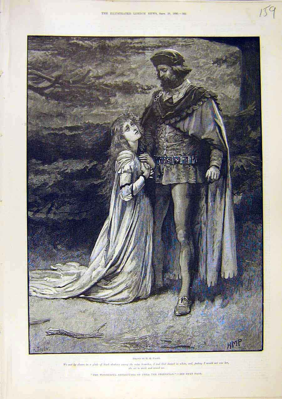 Print Paget Adventures Phoenician Phra Knight Taylor 1890 59Ccc1 Old Original