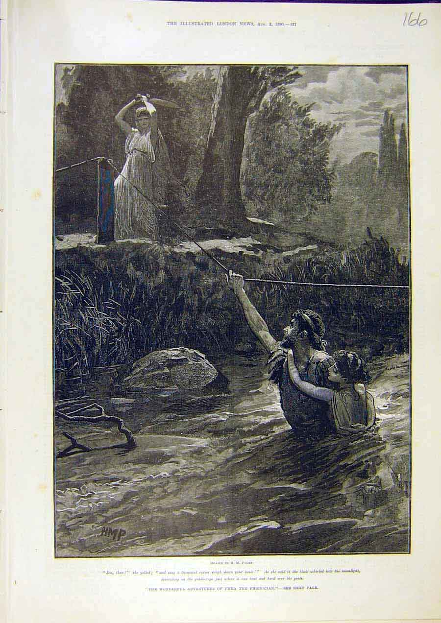 Print Taylor Paget Phoenician Phra Adventures 1890 66Ccc1 Old Original