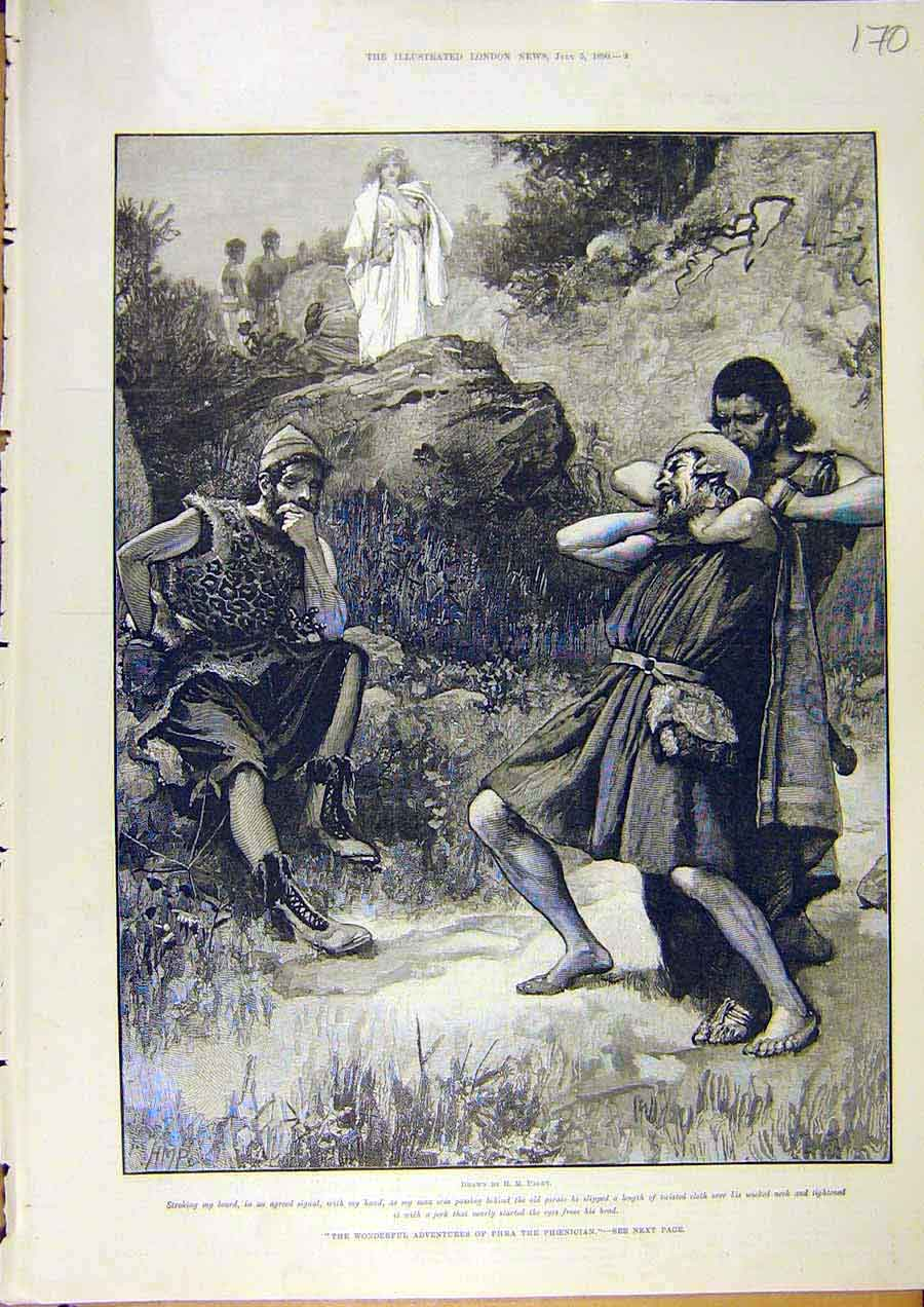 Print Taylor Phra Phoenician Paget Pirate Fine Art 1890 70Ccc1 Old Original