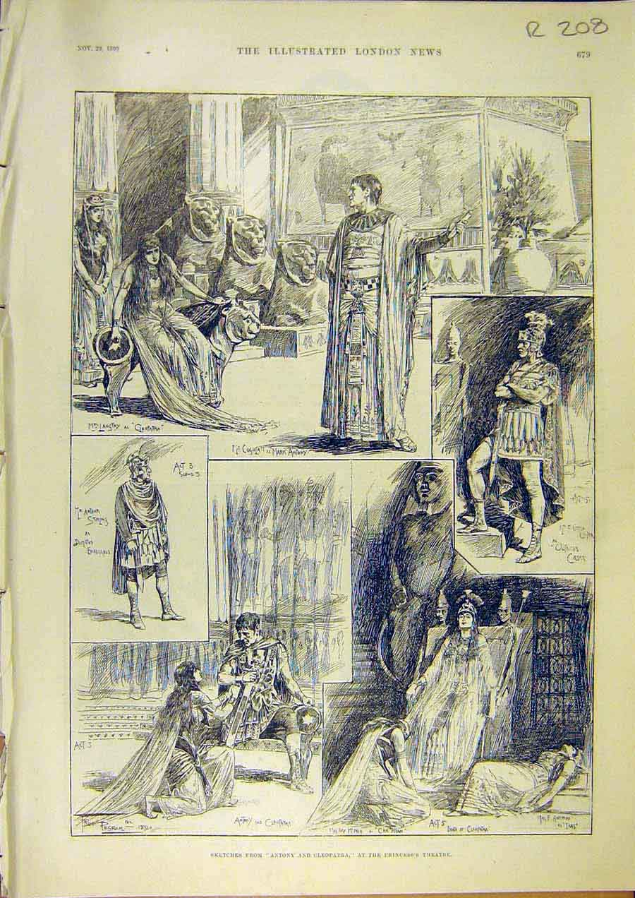 Print Princess'S Theatre Scene Archbishop Canterbury Portrait 08Rccc1 Old Original