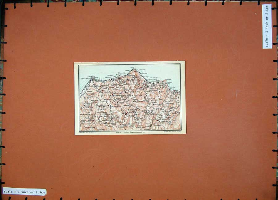 Print 1965 Colour Map Italy Patti Montalbano Raccuia Europe 101D139 Old Original