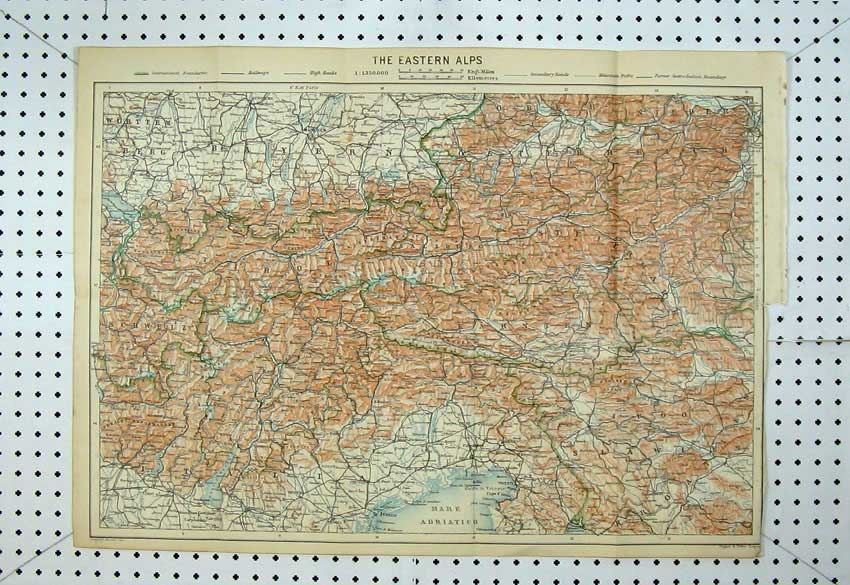Print 1929 Colour Map Austria Street Plan Wien River Donau 121D220 Old Original