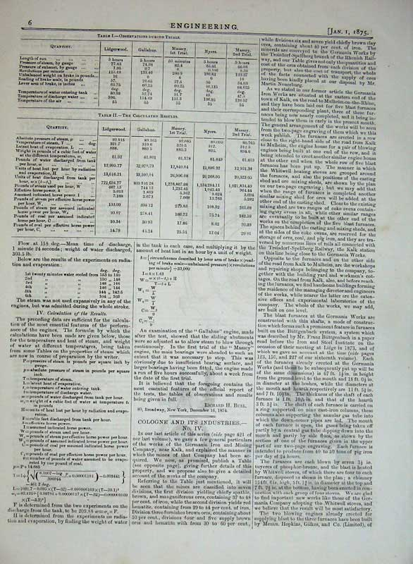 Print 1875 Engineering Roatary Engines Diagram Trial Results 005Rd401 Old Original