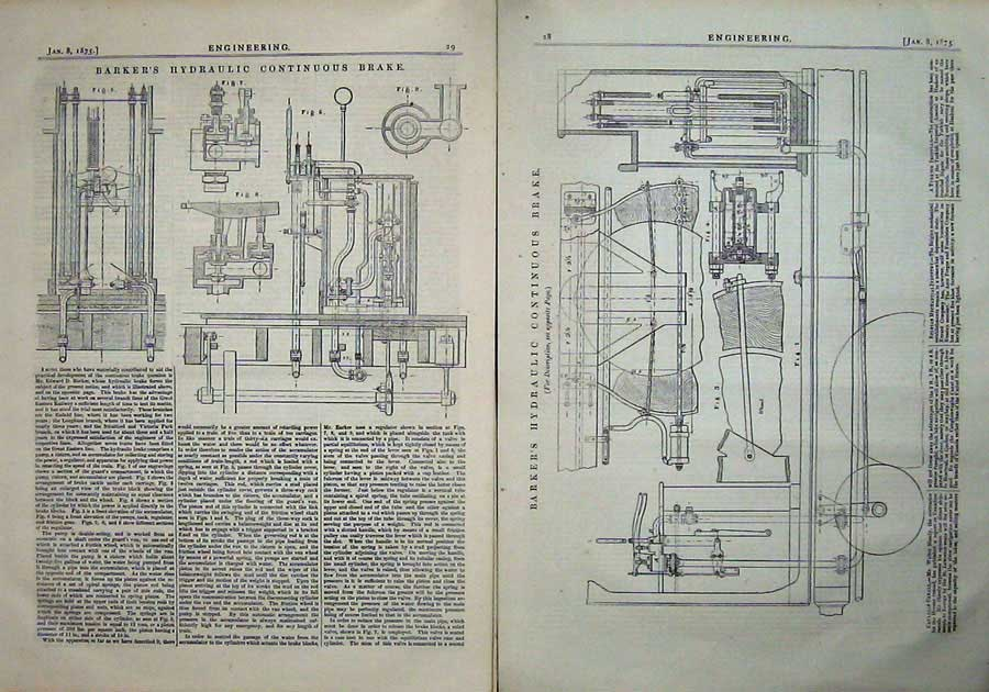 Print 1875 Engineering Barkers Hydraulic Continuous Brake 028Ad401 Old Original