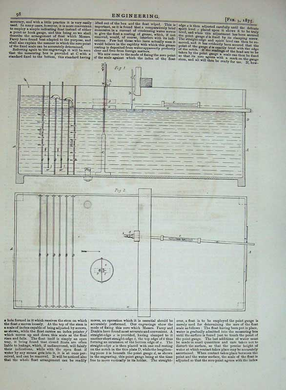 Print 1875 Engineering Testing Steam Systems Drawing Diagram 098D401 Old Original