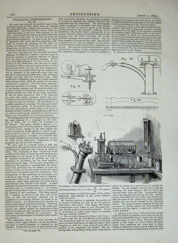 Print 1875 Engineering Pneumatic Transmission Machinery 268D401 Old Original