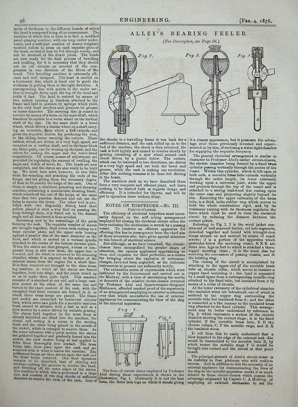 Print 1876 Engineering Alley'S Bearing Feeler Diagrams 096D402 Old Original