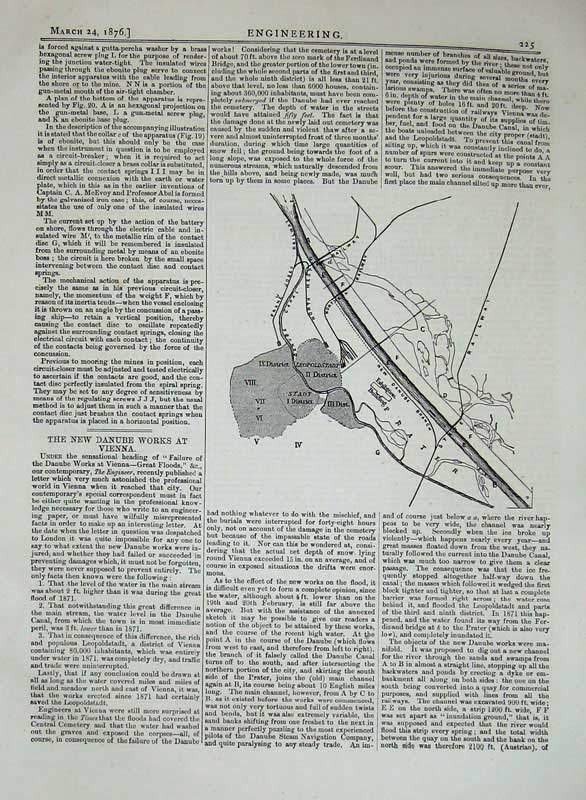 Print 1876 Engineering Diagram Danube Works Vienna Railway 225D402 Old Original