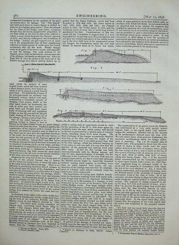 Print 1876 Engineering Diagram Philadelphia Exhibition 380D402 Old Original