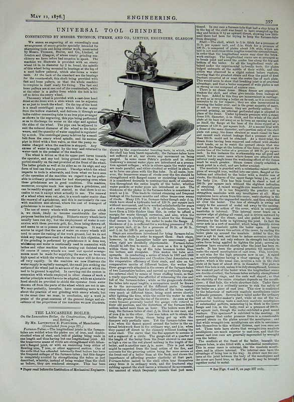 Print 1876 Engineering Universal Tool Grinder Machinery 397D402 Old Original