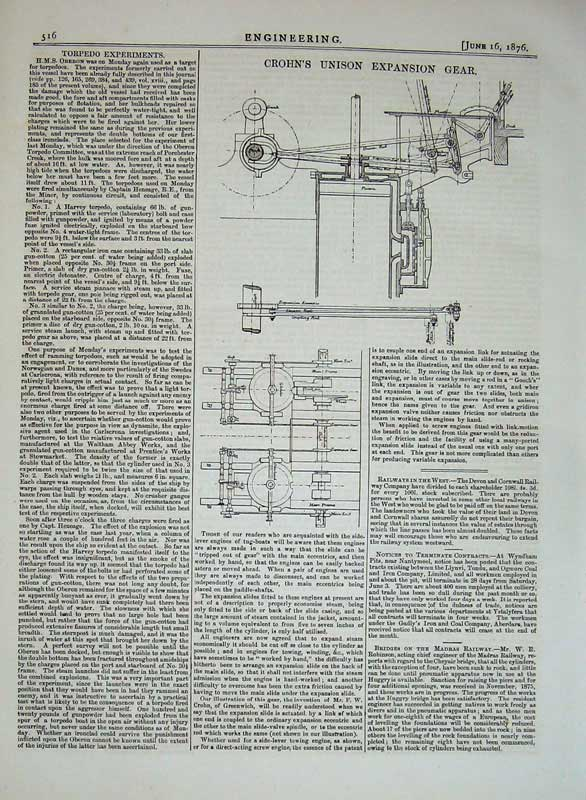 Print 1876 Engineering Crohn'S Unison Expansion Gear Diagrams 516D402 Old Original