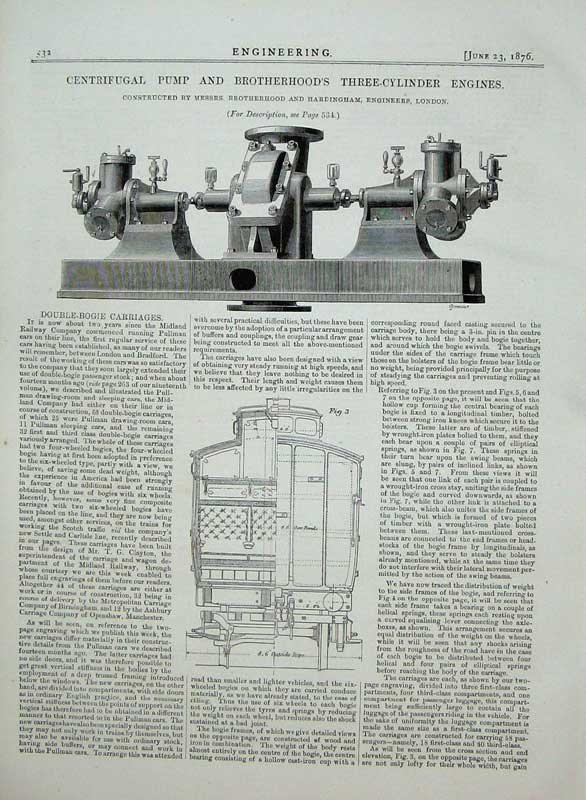 Print 1876 Centrifugal Pump Brotherhood'S Cylinder Engines 532D402 Old Original