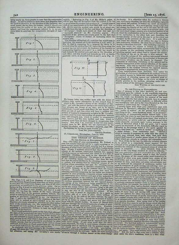 Print 1876 Engineering Machinery Diagrams Cast Iron Drawing 542D402 Old Original