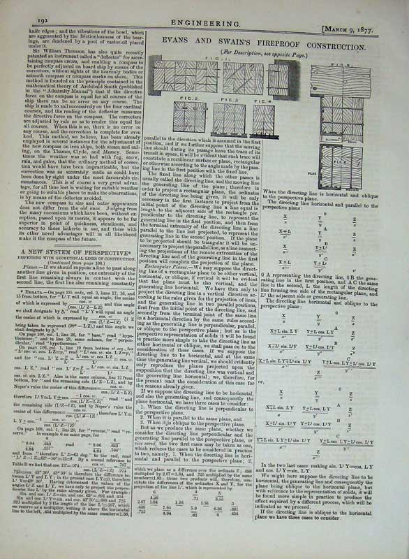 Print 1877 Engineering Evans Swain'S Fireproconstruction 192D403 Old Original
