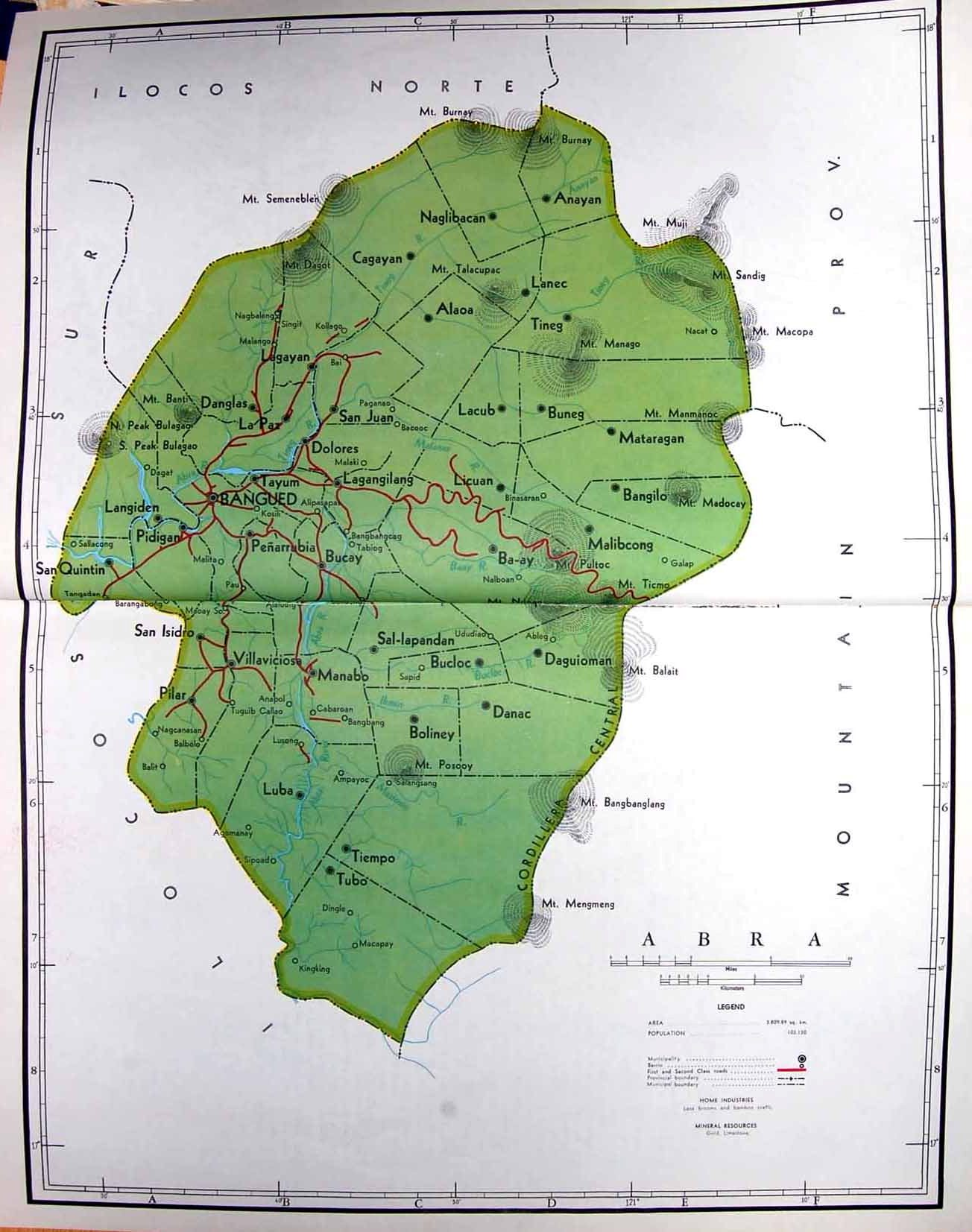 14 print colour map 1959 philippines abra bangued san quintin click for larger and then click again for extra large publicscrutiny Images