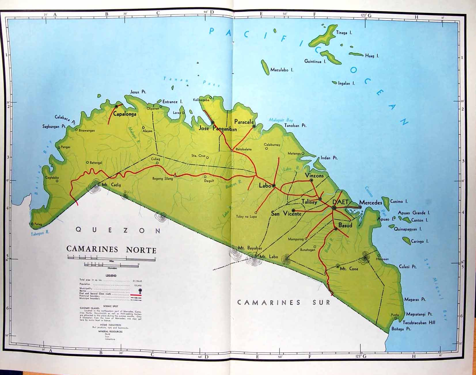 14 print colour map 1959 philippines camarines norte labo daet click for larger and then click again for extra large publicscrutiny Images