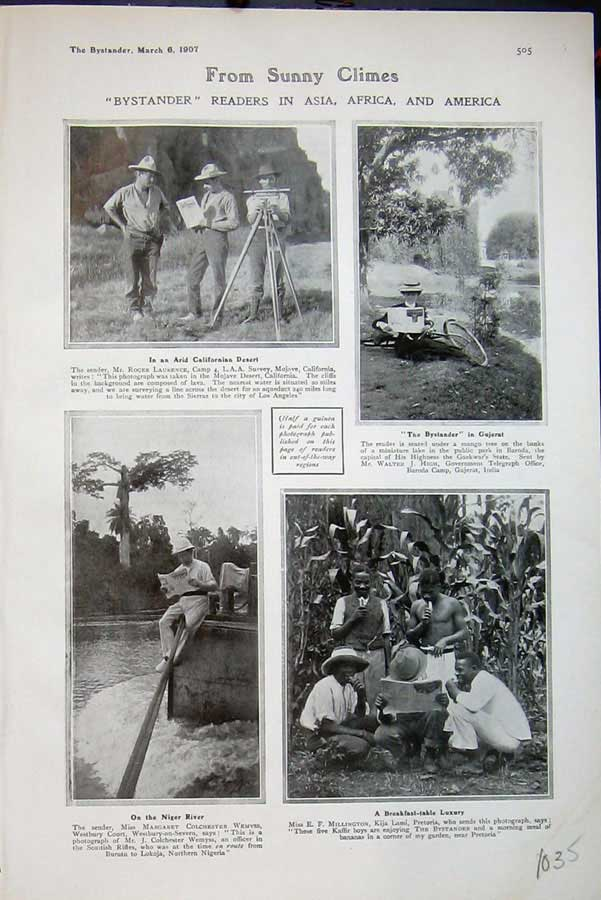 [Print 1907 Asia Africa America People Niger River Gujerat 1035D503 Old Original]
