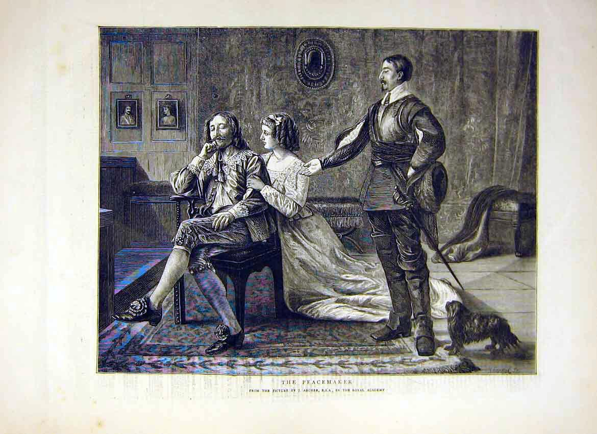 Print Painting The Peacemaker Archer Royal Academy 1871 70Ddd0 Old Original