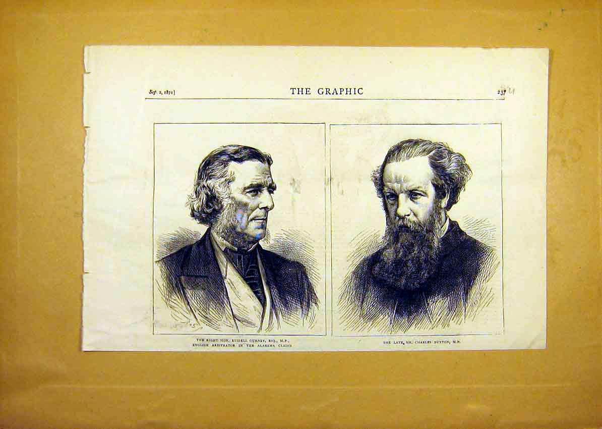 Print Portrait Gurney Mp Buxton Alabama Claims Court 1871 37Uddd0 Old Original