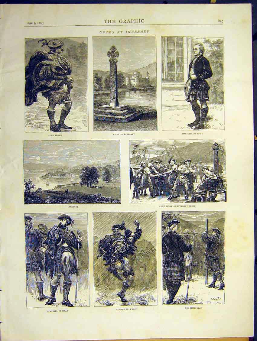 Print Inerary Cross Lorne Aunt Sally Campbell Leap 1871 45Ddd0 Old Original