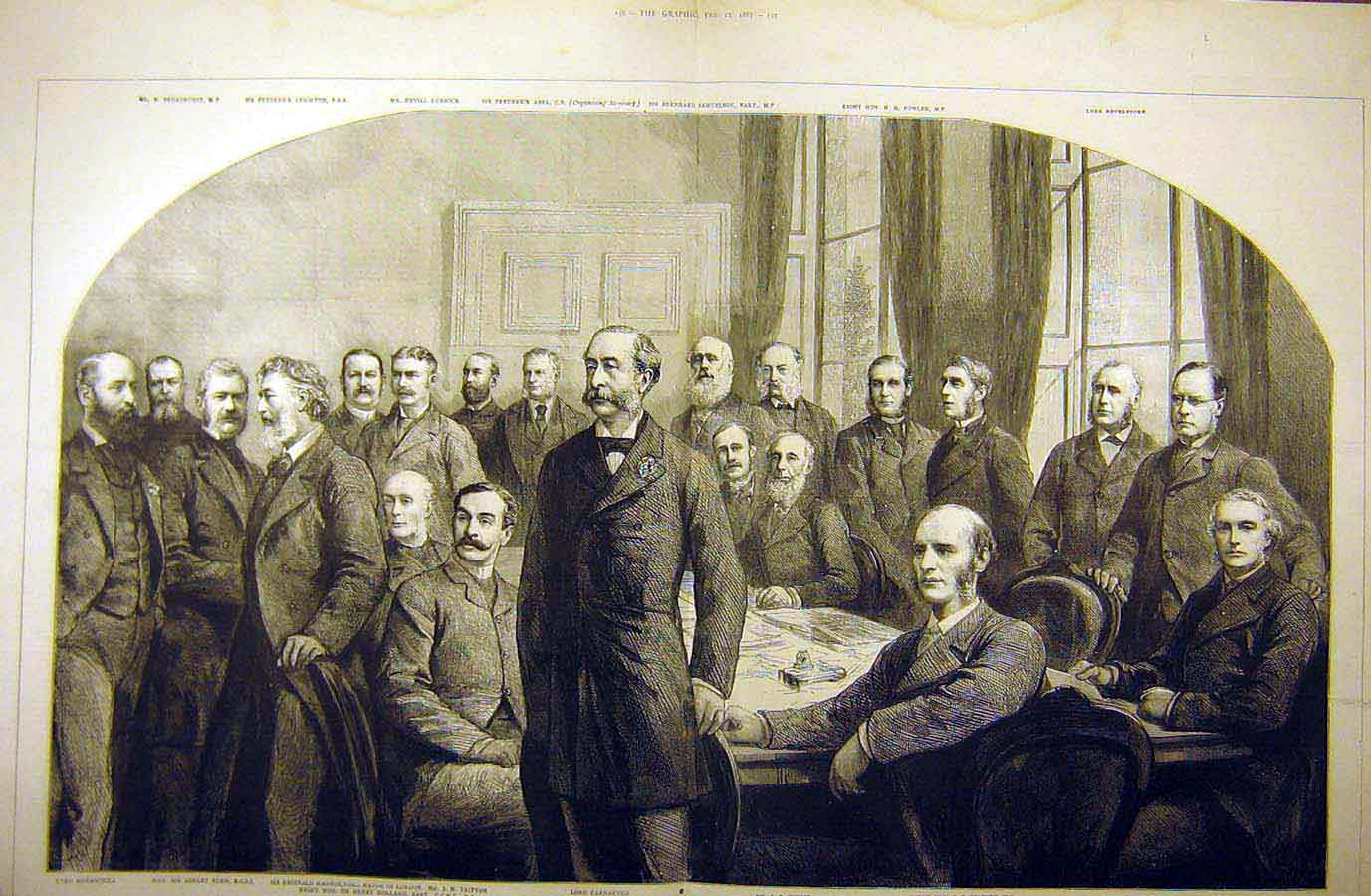 Print 1887 Committee Imperial Institute Group Portrait 05Tddd0 Old Original