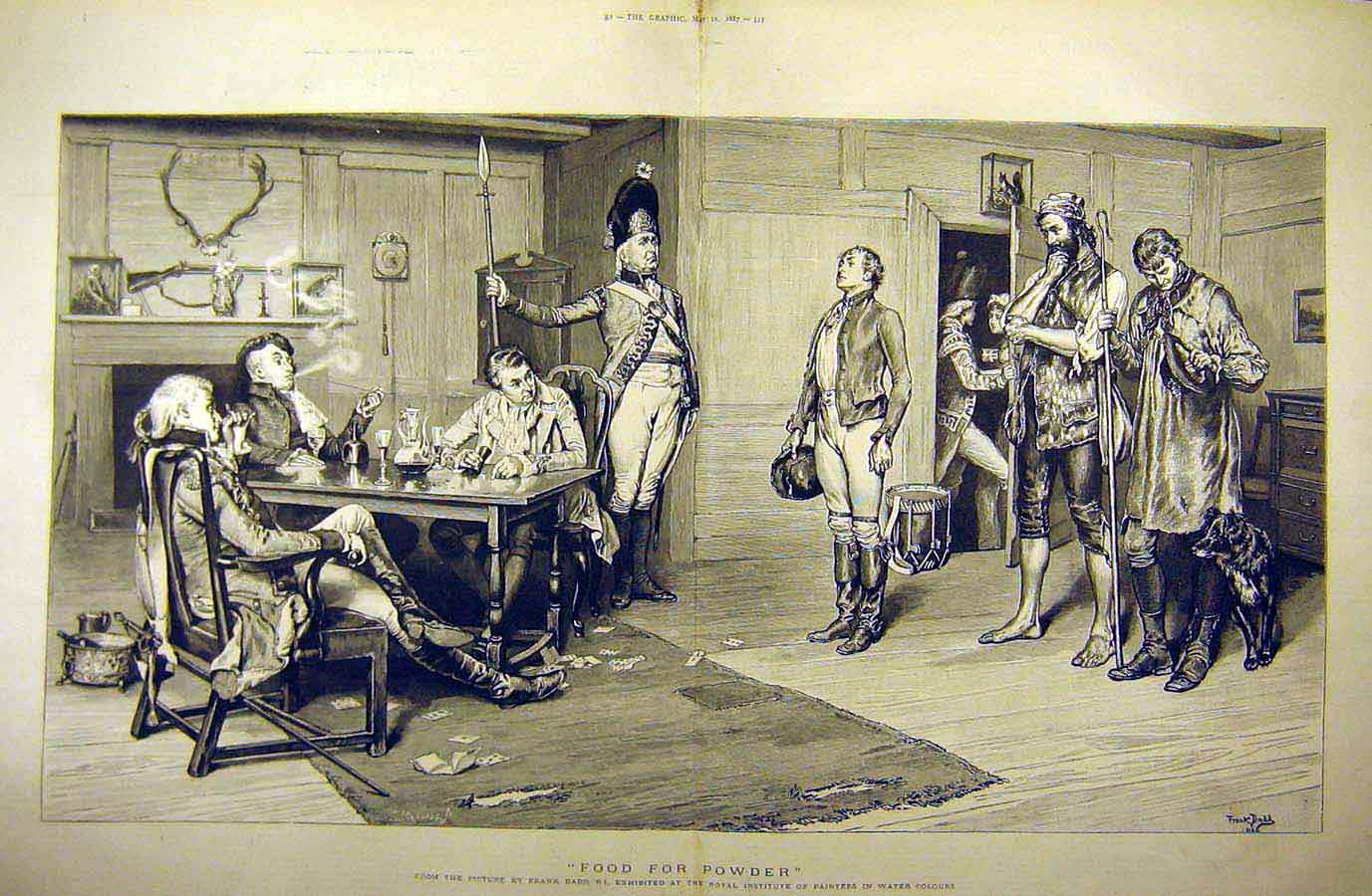 Print 1887 Food Powder Dadd Fine Art Soldier Military 18Tddd0 Old Original