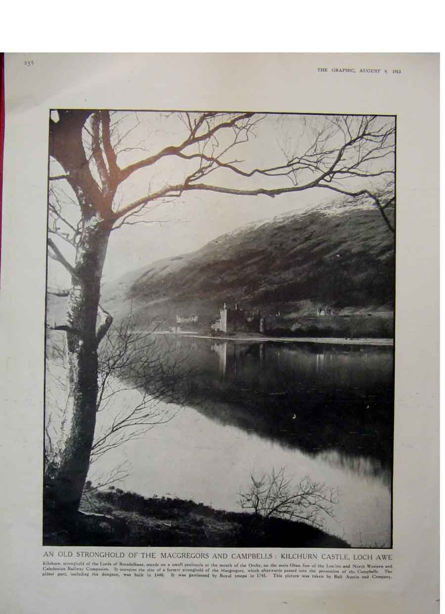 Print Gretna Green Border Scotland Kilchurn Castle Awe 1913 56Rddd0 Old Original