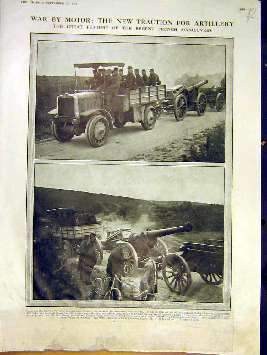 [Print War Army Motor Lorry Transport Sport Activities 1913 69Rddd0 Old Original]