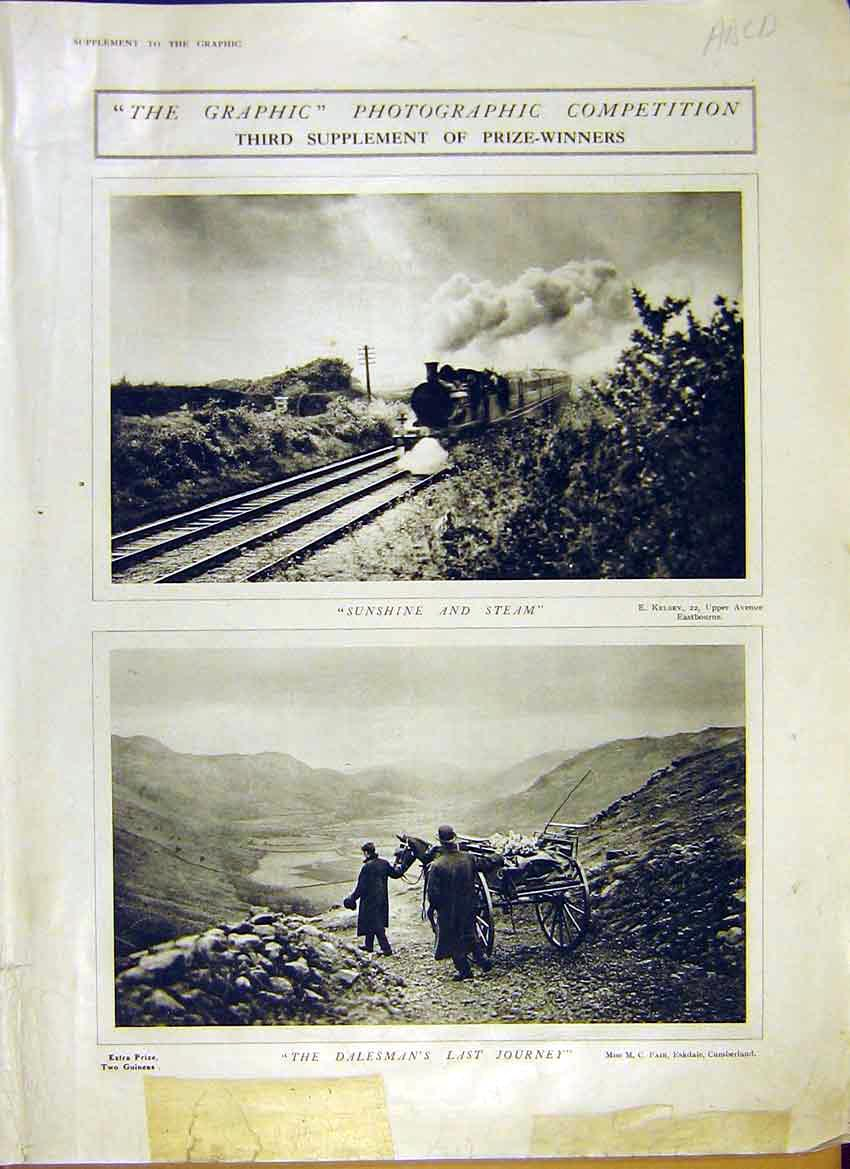Print Photographic Competition Prize Winners 1914 01Addd0 Old Original