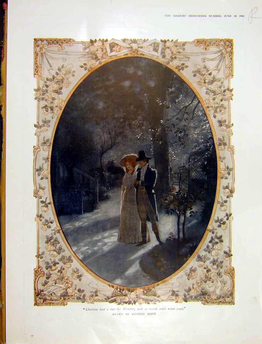 [Print Painting Winter Charlotte Scott Add Waring Gillow 1914 001Rddd0 Old Original]
