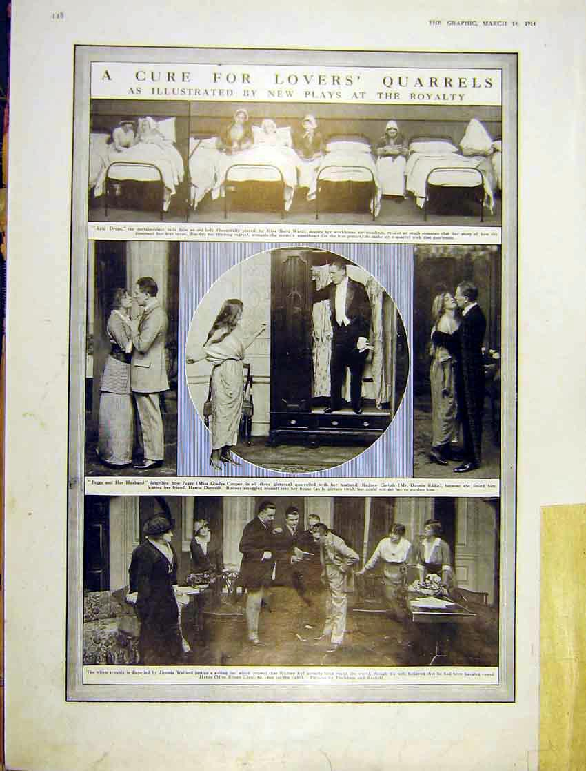 Print Play Royalty Theatre Lovers Acid Drops Peggy 1914 448Ddd0 Old Original