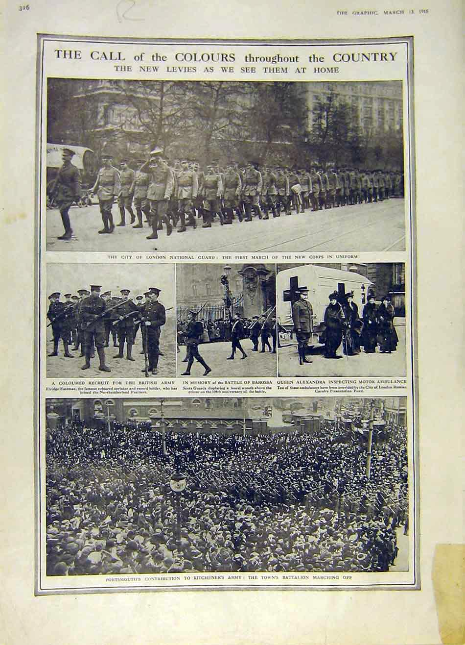[Print Colours Army National Guard Recruit Zillebeke 1915 Ww1 26Rddd0 Old Original]