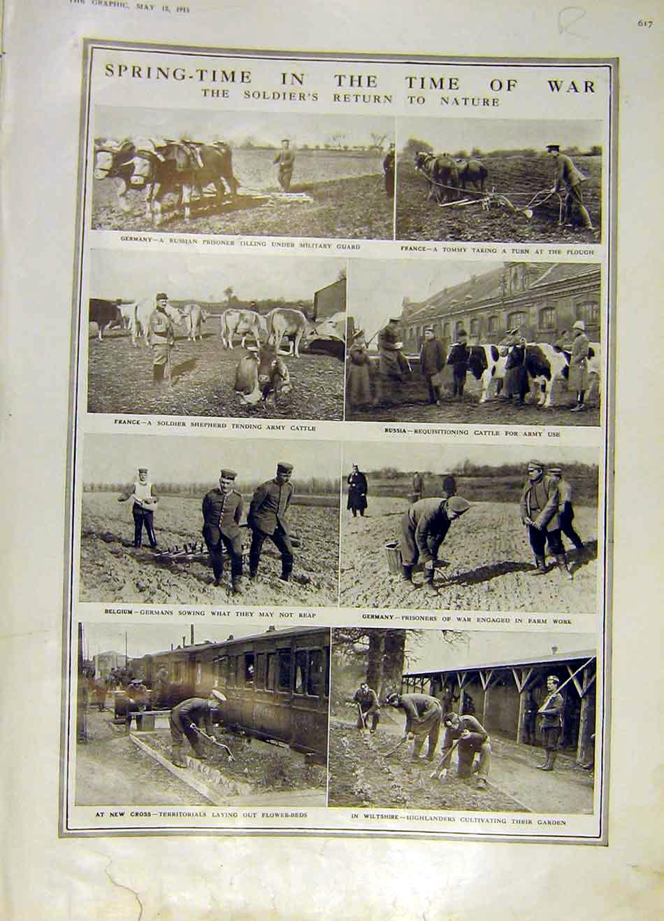 Print Soldier Nature Home Farm Ypres Cloth-Hall Bastien 1915 17Rddd0 Old Original
