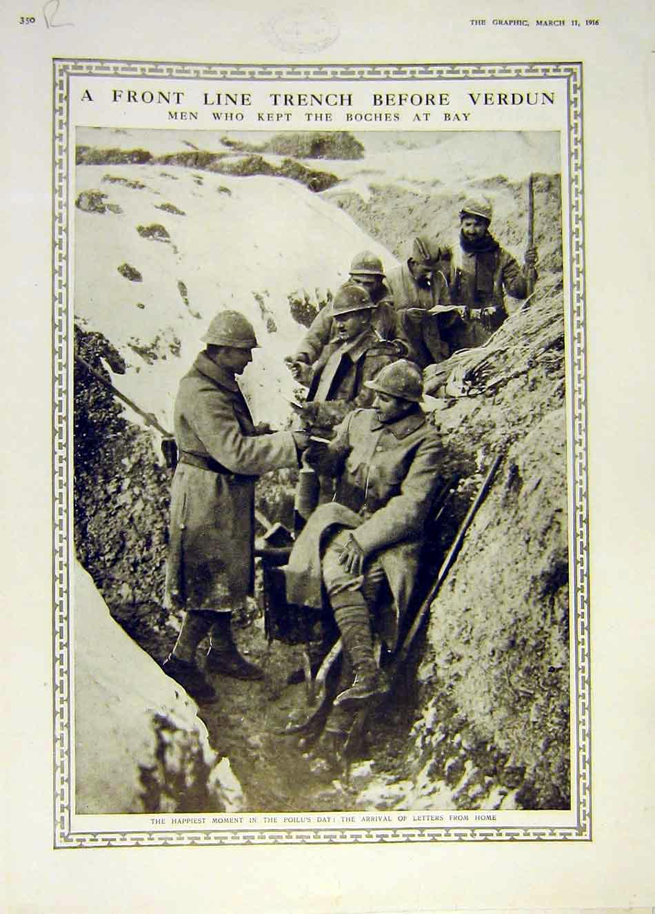 Print Verdun Trench Poilu Ww1 Alpine Troops Meuse 1916 50Rddd0 Old Original