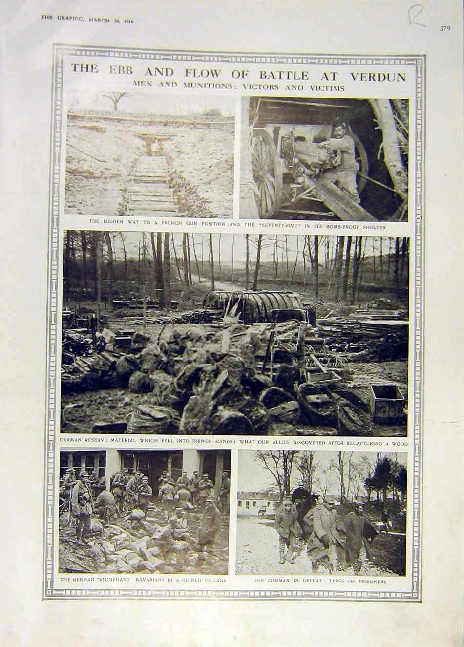 Print Verdun Men Munitions German Ww1 Douamont War 1916 79Rddd0 Old Original